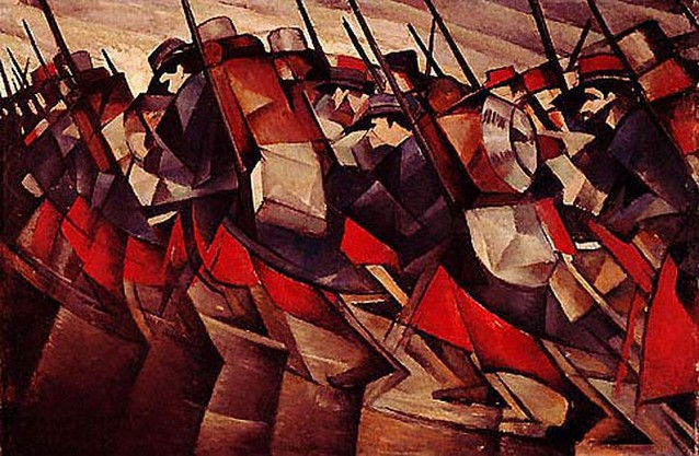 "Nevinson - ""Return to the trenches"""
