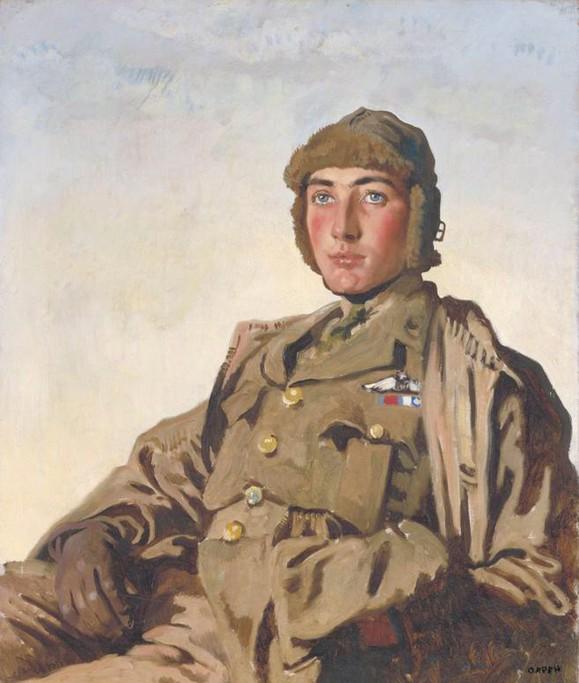 """William Orpen - """"Lieutenant Rhys Davids"""""""