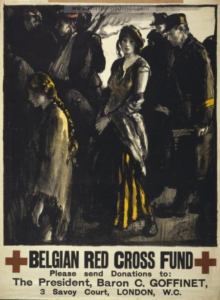 Appel d'aide pour la Croix rouge belge pendant la guerre de 1914-18