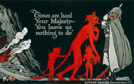 Carte postale britannique diabolisant le Kaiser