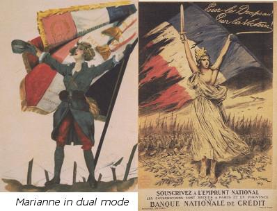 Deux images de Marianne: séduisante et héroique